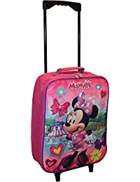 """Disney Minnie Mouse 15"""" Collapsible Wheeled Pilot Case - Rolling Luggage"""