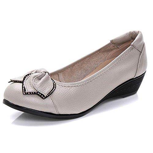CHNHIRA Femme Été Chaussure à Fond Plat Semelle Souple Sandales Pour Maman Gris DOU7Q