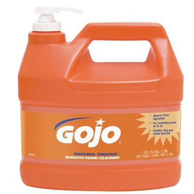 GOJO Industries 315-0945-04 NATURAL ORANGE Smooth Hand Cleaner, 1 gal with Pump
