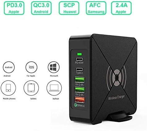 ワイヤレス充電器、チーファスト10Wと75WタイプC PD旅行充電アダプタースタンド、互換性のあるサムスンS10 / S10 + /ノート10 / S9 / S8 / iPhone 11/11プロ+ / XR/のX最大/X / 8 +充電