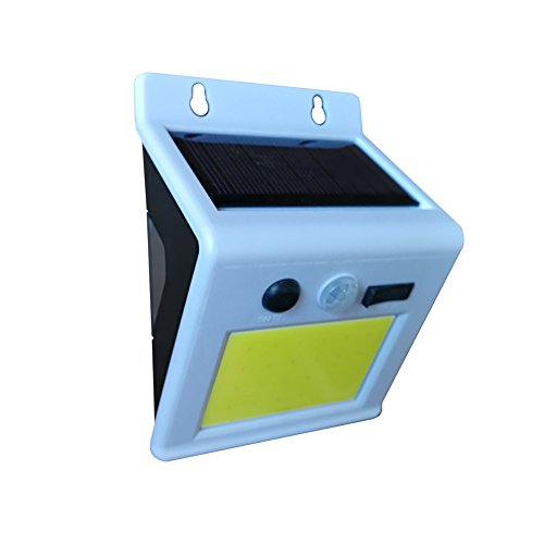 Cheap JESS Outdoor Bright 24 COB LED Wireless Solar Powered Motion Sensor Light with Color Changing Back Night light Weatherproof Camping Patio Wall Lamp Security Lamp(24 COB LED)