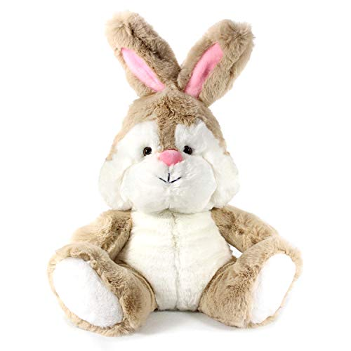 Winsterch Bunny Stuffed Animal Plush Rabbit Soft Toy Kid's Birthday Gifts Baby Doll,Brown Bunny Plush,12 inches ()