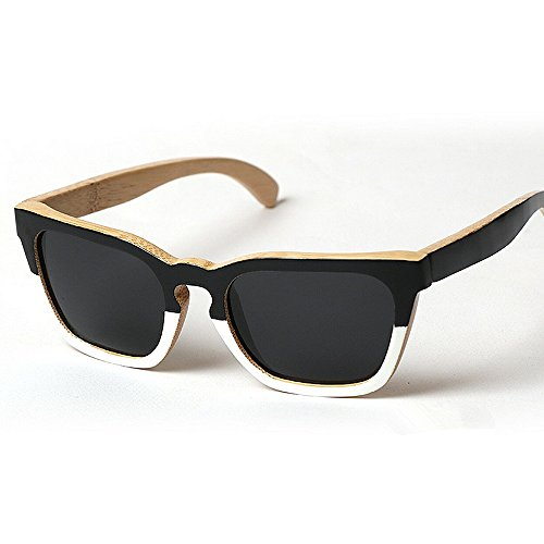 UV de Gafas a marco Gafas hecho de de cuadrada de hombres de Gafas de de protección de sol Vintage los bambú sol O Diseñador sol sol de sol madera Gafas de mano de conducción Eyewear Adult Beach Gafas nFqOwPaT