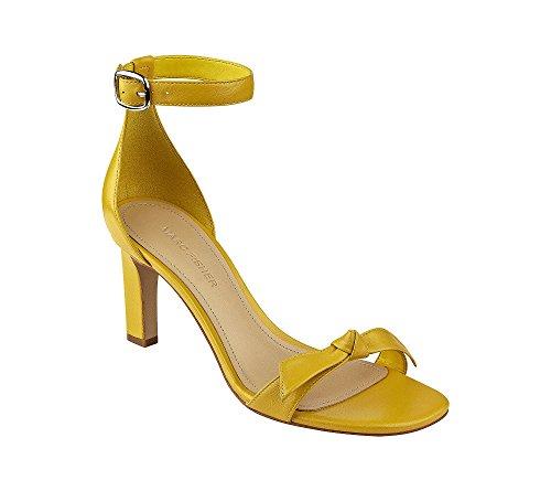 Yellow Dress Sandals (Marc Fisher Women's Dalli Dress Heeled Sandal Yellow 9 M US)