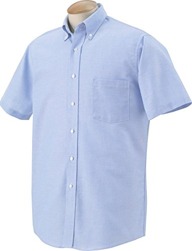 Van+Heusen+Men%27s+Short-Sleeve+Oxford+Dress+Shirt%2C+Oxford+Blue%2C+XXX-Large