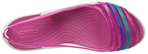crocs Isabellafltsndl, Mules para Mujer Oyster/Berry