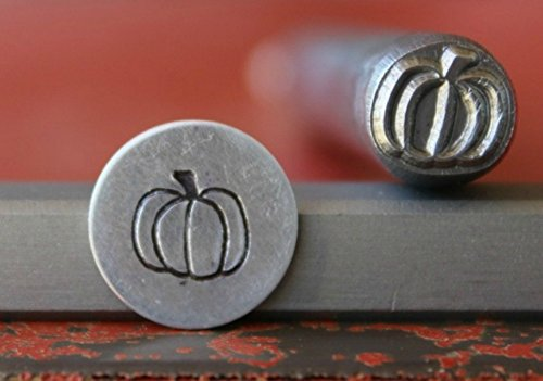 SUPPLY GUY 7mm Single Metal Punch Design Stamp: Holiday, Made in USA (not a set) (PUMPKIN (Holiday Metal)