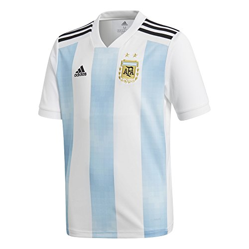 adidas Youth Argentina 2018 Home Replica Jersey White/Light Blue ()
