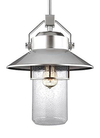 Feiss OL13912PBS One Light Outdoor Pendant Lantern - Nickel Lantern Pendant