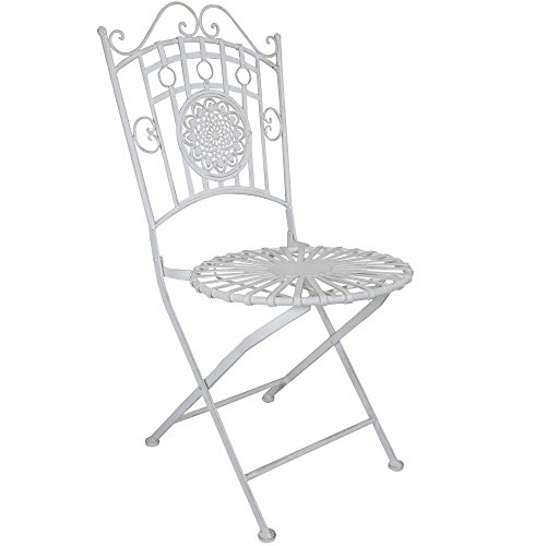 Titan Outdoor Antique White Chair Porch Patio Garden Deck Decor Backyard Rustic