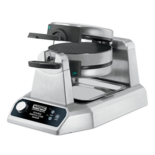 Waring Commercial WWCM200 Double Waffle Cone Maker, Silver