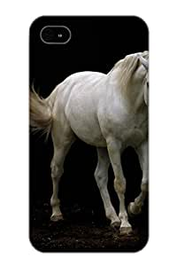 Mwrxey-6166-iplrfsh Anti-scratch Case Cover Exultantor Protective White Lusitano Horse Walking Case For Iphone 4/4s