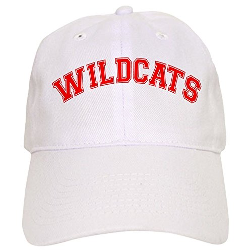 CafePress Wildcats Baseball Cap with Adjustable Closure, Unique Printed Baseball Hat White ()