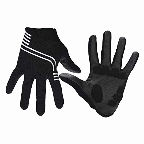 BIGHAS Cycling Gloves for Men Women, Bike Motocycle Gloves, Mountain Road Racing, Touch Screen, Light, Soft, Durable 2 Colors (Black, L)