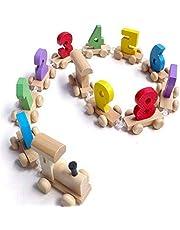 لعبة ارقام خشبية على شكل قطار لتعليم الاطفال