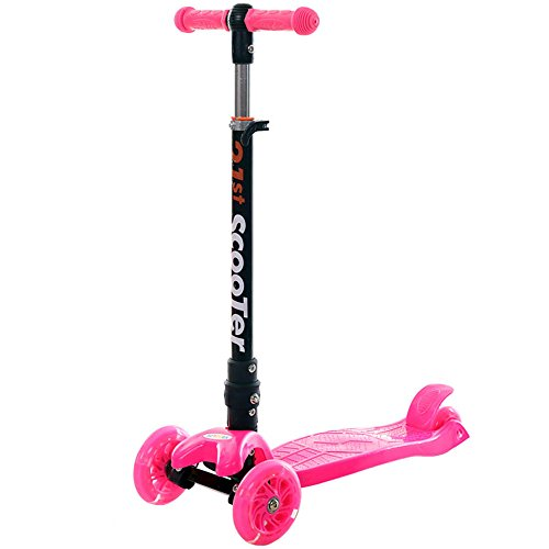 Mini Tunable 3 Wheel Kick Scooter - Rose -