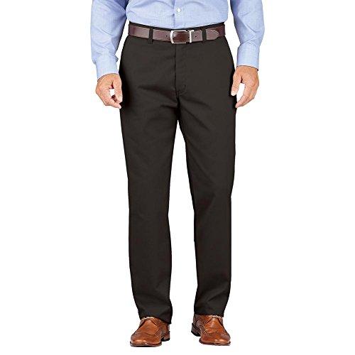 Dickies Men's Khaki Relaxed Fit Tapered Leg Comfort Waist Pants, Rinsed Black, 46 ()