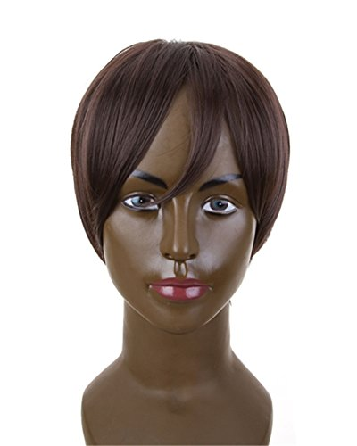 Price comparison product image Futuretrend Aicos Attack on Titan Eren Jaeger Short Dark Brown Anime Cosplay Wig