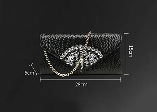 diamant en Couleur banquet en grande main cuir américain européen de et dîner capacité Silver paquet à de à main féminin en Bleu cuir Sacs sacs paquet R6qO1gx