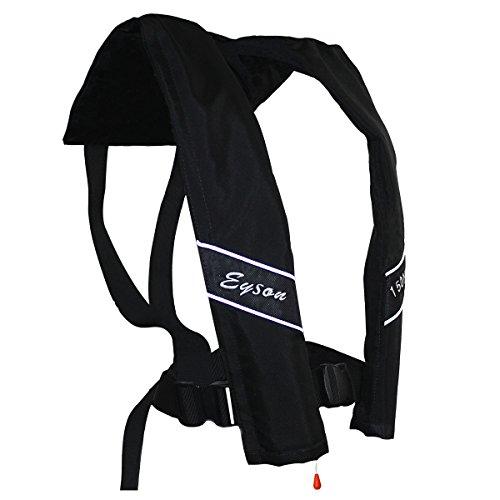Inflatable Vest Life - Eyson Slim Inflatable PFD Life Jacket Life Vest Adult Automatic (Black)