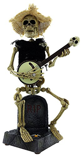 13 Inch Animated Musical Banjo Playing (Skeleton Playing Banjo)