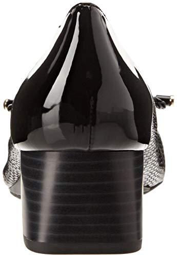 Zapatos C9999 de Tacón Audalya Mujer a Geox Black D para zxPTtt