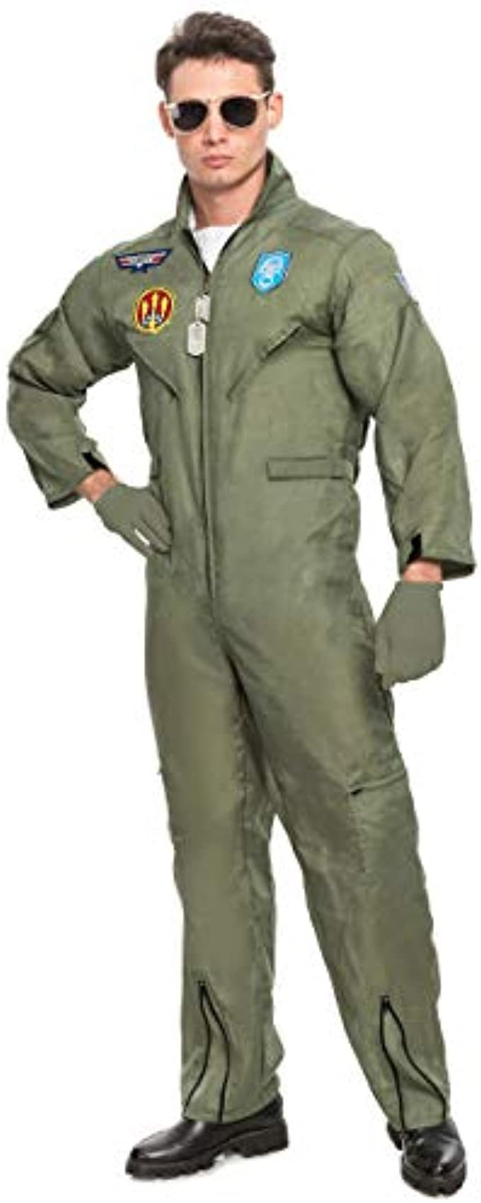 Spooktacular Creations Men's Flight Pilot Adult Costume with Accessory for Halloween Party