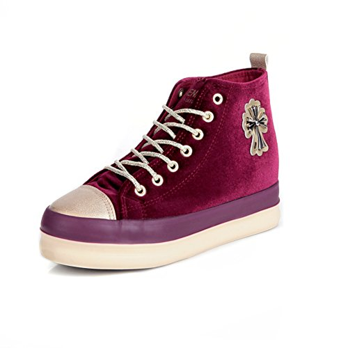 El aumento de bota zapatos de lona Sra./zapatos del estudiante de la manera ocasional B