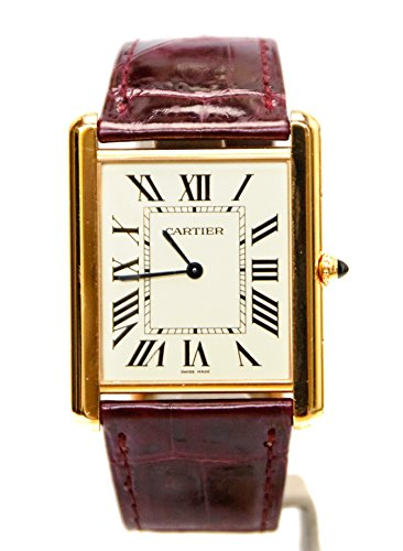 Cartier Tank (1) mechanical-hand-wind mens Watch W1560017 (Certified Pre-owned)