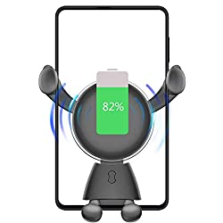 Product description Compatible with Apple and Android devices:The car charger suitable for Samsung Galaxy S9/S9+/S8/S8+/Note 8 and 7.5W Compatible with Phone Xs Max/Xs/XR/X/ 8/8 Plus. 3-in-1 Design: Car charger &adjust button of phone holder &amp...