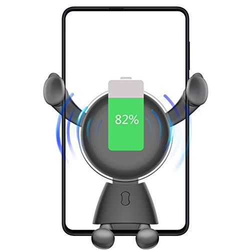 Vidgoo Fast Wireless Car Charger 10W Standard Charger for Samsung Galaxy S9/S9+/S8/S8+/Note 8 and 7.5W Compatible with iPhone Xs Max/Xs/XR/X/ 8/8 Plus Auto Clamping Air Vent iPhone Holder