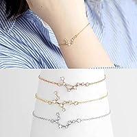 Zodiac Constellation Bracelet Birthday Gift for Women Astrology Cancer Bracelet Leo Zodiac Jewelry Gift for Her Bracelet Gift - ZCPBR