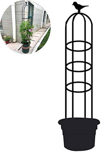 ガーデンオベリスク金属トレリスバインズとつる性植物のためのフラワーサポート、庭の植物の花のつるプランタートレリスサポートメタルフレームブラケットクライミングラック,160cm