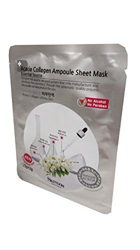 Acerola Chew (2 Mask Sheets of Acacia Collagen Ampoule Sheet Mask, Acacia Collagen Lifting Skin: Moisturizing the Skin, Improvement in Skin, Skin Protection, Muscular Relaxation (23g + 2g/ Sheet))