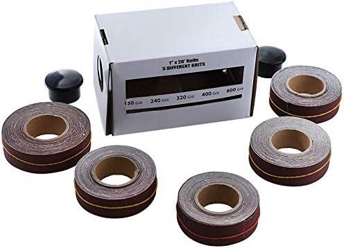 Grit Emery Cloth Roll Polishing Sandpaper Sanding Belt Drawable Emery Cloth for Belt Sanders,Spindle Sander,Mini Sander.