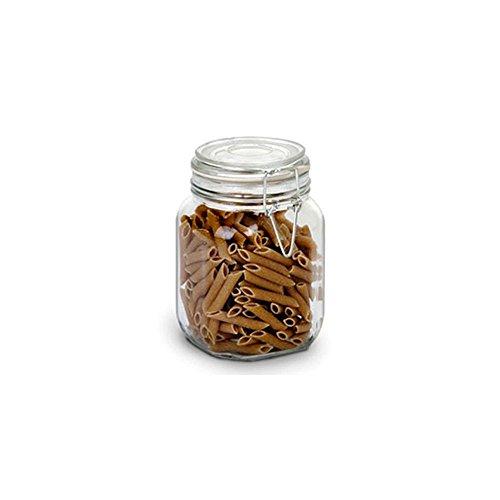 Anchor Hocking 98591 38 Oz Glass Heremes Clamp Jar