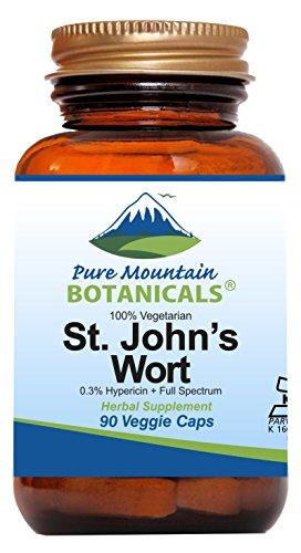 - St Johns Wort Capsules - 90 Kosher Vegan Capsules Now with Organic St. John's Wort & Potent Extract
