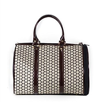 Petote Noir Dot JL Duffel Pet Carrier, Regular