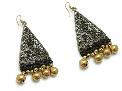 CHADADA CHADADA Jewelry Women's Dangle Earrings Brass Hook Botanical Motifs Jingle Bells Bead Decoration (ET27) price tips cheap