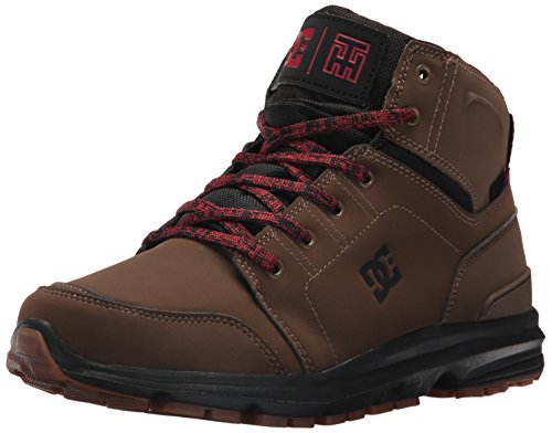 DC Men's Torstein Ankle Boot, Dark Chocolate, 8 D D US