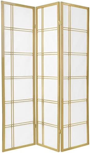 B00164SQBO Oriental Furniture 6 ft. Tall Double Cross Shoji Screen - Special Edition - Gold - 3 Panels 41fI92MKPWL