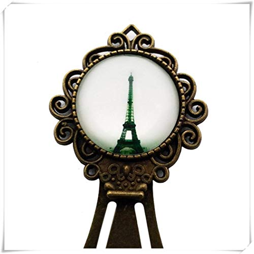 Goodnight cat Eiffel Tower Paris France Bookmark Dome Glass Ornaments, Unique Bookmarks, Romantic Gifts