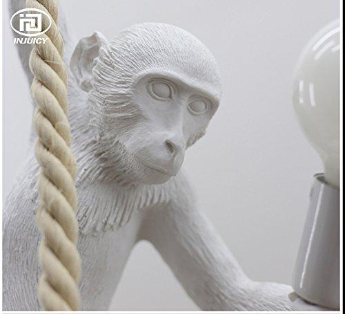 Injuicy Lighting Loft Vintage Resin Hemp Rope Monkey Pendant Lights Fixture Industrial Retro E27 Edison Ceiling Pendant Lamp Single Light for Dining Living Room Children's Bedroom Bar Cafe Gift by IJ INJUICY (Image #6)