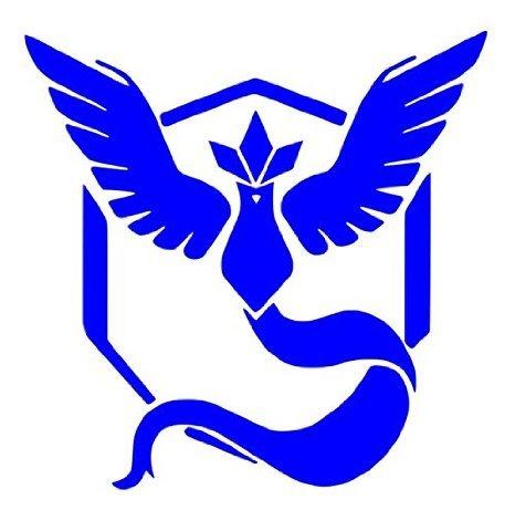 Team Mystic Pokemon Go Decal Vinyl Sticker|Cars Trucks Vans Walls Laptop|BLUE |5.5 x 5 in|CCI443