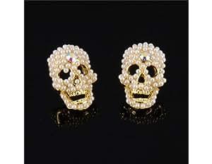 L&F - Stylish Skull Pattern Earrings Ear Pedants 1 Pair M.