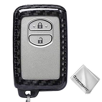 Carbon Fiber Keyless Remote Key Fob Flip Key Case For Toyota