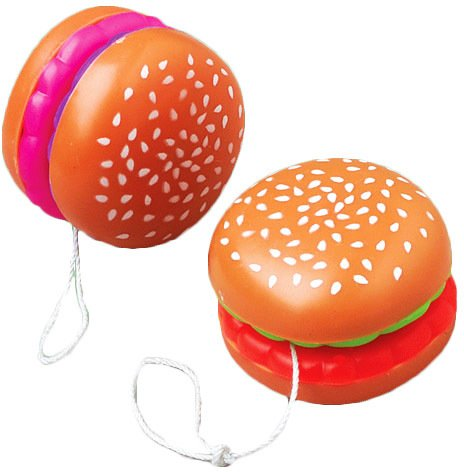 Yos Yo Hamburger (Hamburger Yo-Yos Case Pack 11 , Kid ,Toy , Hobbie , Nice Gift)