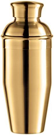 Oggi Plated Mirror Finish Stainless Steel Cocktail Shaker, 0.75 L 26 oz, Titanium