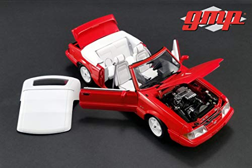 (1: 18 GMP 1992 Ford Mustang LX Convertible - Vibrant Red with White Interior - Ford Feature Edition (GMP-18822))