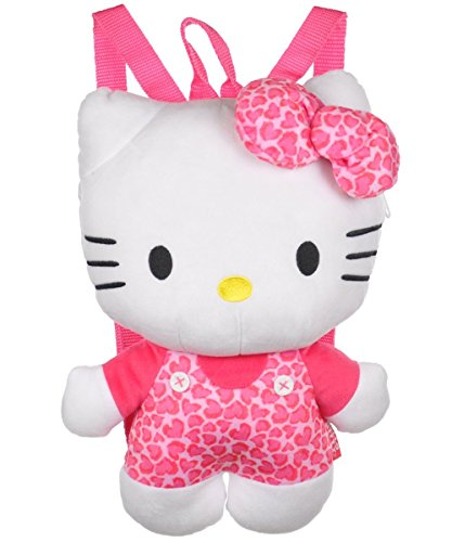 Plush Backpack - Hello Kitty - Pink Leopard New Soft Doll Toys 692756